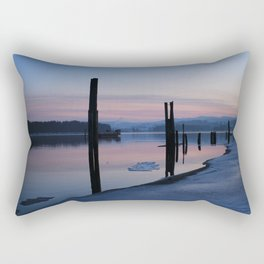 Sunset on the ice Rectangular Pillow