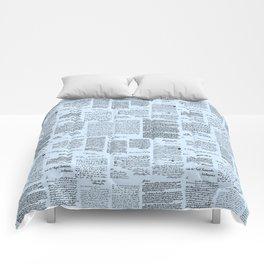 George Washington's Letters // Blue Comforters