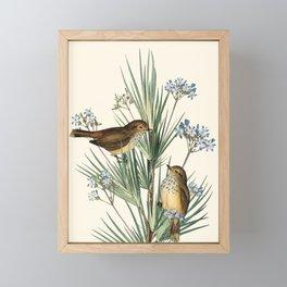 Little Birds and Flowers III Framed Mini Art Print