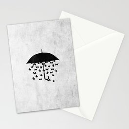 uncertainty (black and white) Stationery Cards