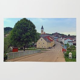 Bridge into the village center | landscape photography Rug