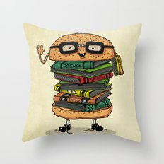 Geek Burger v.2 Throw Pillow