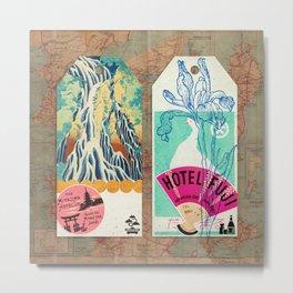 Label Fables, Japan I :: Fine Art Collage Metal Print