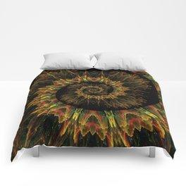 Spiral Organic Orange Comforters