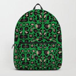 Leopard Kelly Green Backpack