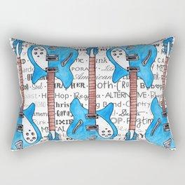 Music for the Soul & Spirit - Blue Series Rectangular Pillow
