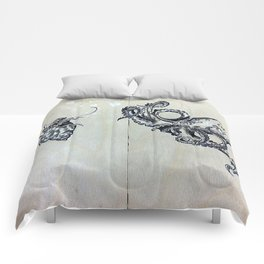Blue Ringed Octopus and Crab Comforters