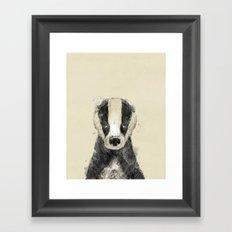 little badger Framed Art Print