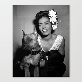 Billie Holiday : Lady Day & Her Mister Canvas Print