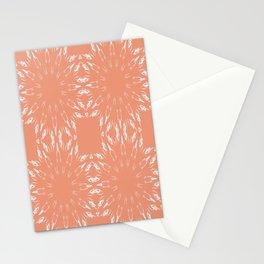 Peach Color Burst Mandala Living Coral Stationery Cards