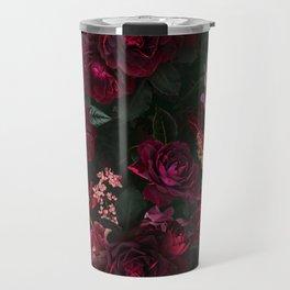 Vintage & Shabby Chic - Night Botanical Flower Roses Garden Travel Mug