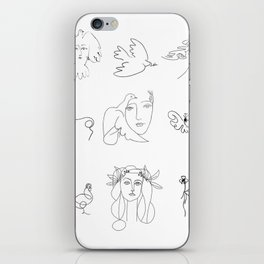 Collage Picasso Sketches iPhone Skin