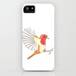 Robin In Flight iPhone Case