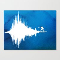 Soundwave Canvas Print