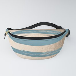 Painted Stripes Gold Tropical Ocean Blue Fanny Pack