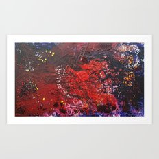 Abstract liquidity. Art Print