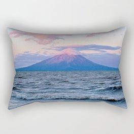 Nicaraguan Volcano at Sunset Rectangular Pillow