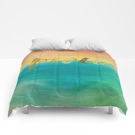 Peace, Ocean Sunset 3 Comforters