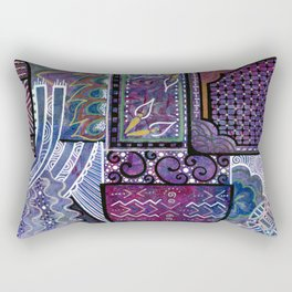 Purple Pandemonium Rectangular Pillow