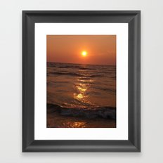 THE WARM RED RING Framed Art Print