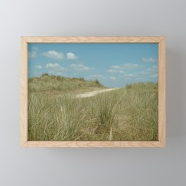 This way to the beach Framed Mini Art Print