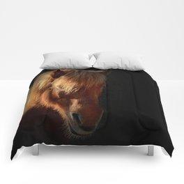 Horse in the dark Comforters