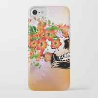 sugar skull iPhone & iPod Cases featuring Sugar skull by nicky2342
