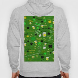 St Patrick's Day Collage Hoody