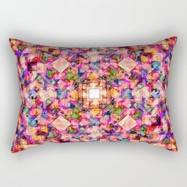 Colorful Digital Abstract Rectangular Pillow