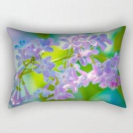 Purple Lilac Flowers Rectangular Pillow