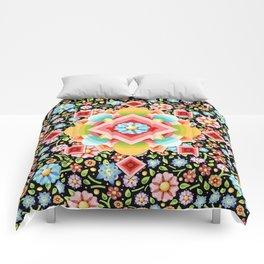 Geometric Chintz Mandala Comforters