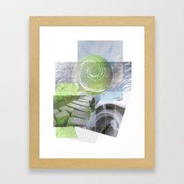 garden steps Framed Art Print