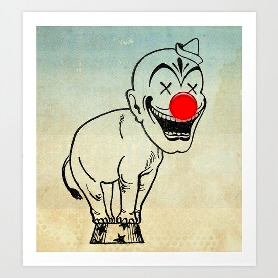 elephant clown 02 Art Print