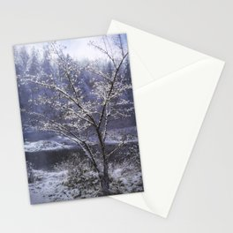 Snow Flowers Whimsy Stationery Cards