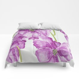 Flower lilac Comforters