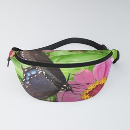 Butterfly on Pink Zinnia Fanny Pack