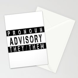 Pronoun Advisory (They/Them) Stationery Cards