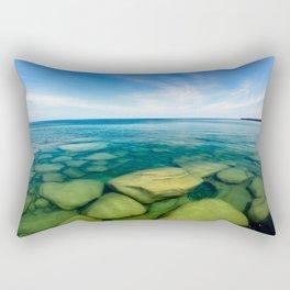 Lake Superior Rock Paradise Rectangular Pillow