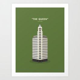 The Queen, Singapore [Building Singapore] Art Print