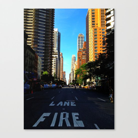 Street in NYC Canvas Print
