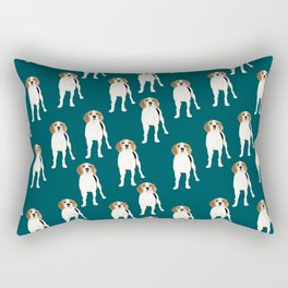All about Gracie the Tree walker coonhound Rectangular Pillow