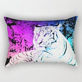 White Tiger Under the Sunset Night Sky Rectangular Pillow