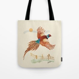 male pheasant Tote Bag