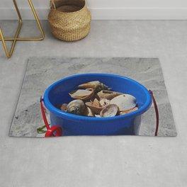 Blue Beach Bucket Rug