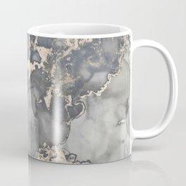 Alcohol Ink Art Grey Beige Golden Elegant Marble Painting Coffee Mug