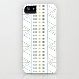 Gold Aqua Geometric Pattern 1.0 iPhone Case