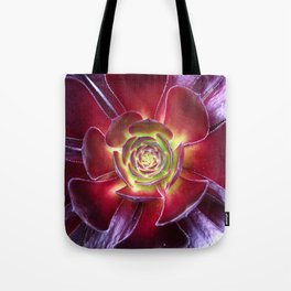 Red Succulent Tote Bag