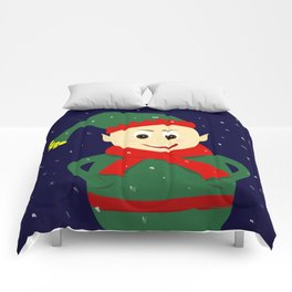 winter elf Comforters