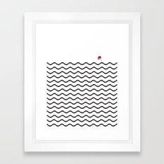 Geometric Roundwaves Flower Framed Art Print