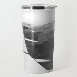Mountain State // Colorado Rocky Mountains off the Wing of an Airplane Landscape Photo Travel Mug